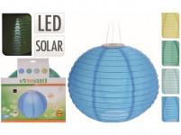 osvětlení LAMPION pr.28cm 1LED solární, nylon - mix barev