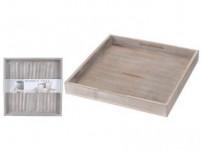podnos dekorační 30x30x3cm dřevěný ŠE