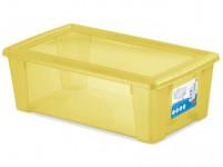 box úložný SCATOLA 5l, 32,5x19x11cm s víkem plastový, ŽL, RŮŽ