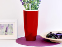 Samozavlažovací květináč GreenSun LIQUIDS průměr 35 cm, výška 61 cm, červený