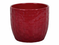 Obal na květník KIRUNA keramický červený d14x12cm