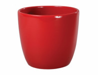 Obal na květník PRIMUS CHRISTMAS keramický červený d8x7cm