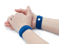 Akupresurní náramek proti nevolnosti, 2 kusy v pouzdře, modrý