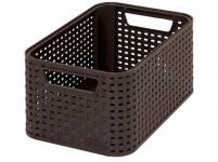 box úložný RATTAN 28,5x19x13cm (S), STYLE2, plastový, HN