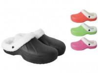 pantofle gumové zimní dámské vel. 36 (pár) - mix barev