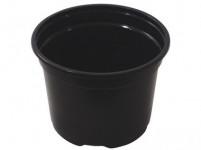 Květník PREMIUM VCD lehčený plastový černý 11cm