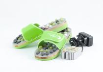 Vyhřívané masážní pantofle s přírodními kameny, zelené, CatMotion