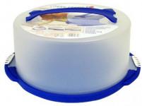 podnos s krytem kulatý 28cm v.15cm plastový - mix barev