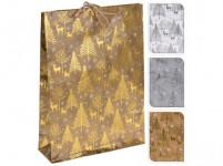 taška dárková 34,5x25x8,5cm (L) VÁNOČNÍ - mix variant či barev