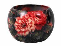 Obal na květník MANES ROSA keramický černý lesklý d13x13cm