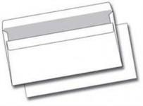 Obálka DL, bílá, samolepící 110x220 mm, 50 ks