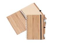 Bambusový zápisník s bambusovou propiskou a recyklovaným papírem, Catmotion