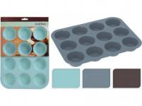 forma na muffiny 12ks 33x25x3cm silikon - mix barev