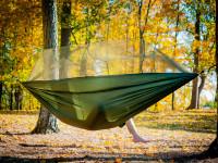 Ultralehká cestovní houpací síť s moskytiérou pro dva, Domestico