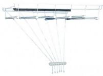 sušák stropový IDEAL 150cm 6 tyčí plastový + kov. BÍ