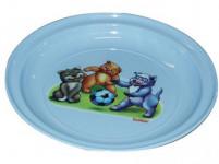talířek dětský 20cm s potiskem plastový - mix barev