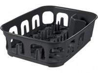 odkapávač na nádobí obdélníkový 39x29x10cm plastový, ŠE tm.