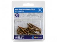 vrut do dřevostavby 4,0x 40mm TX20 ZZ (25ks)