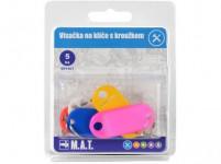 visačka na klíče plastová, s kroužkem (5ks) - mix barev