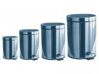koš odpadkový nášlap.5l,12l,20l+3l ZDARMA kulatý nerez, s vložkou plastový