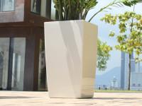 Samozavlažovací květináč GreenSun ICES 12x12 cm, výška 23 cm, bílý
