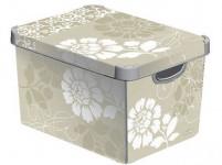 box úložný ROMANCE 39,5x29,5x25,0cm (L) s víkem, plastový