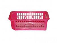 košík stohovatelný 20x12x 6cm plastový (malý) - mix barev