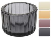 svícen sklo pr.5,5x3,7cm (4ks) - mix barev