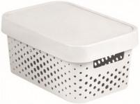 box úložný INFINITY děrovaný 26,8x18,6x12,4cm s víkem, plastový, BÍ
