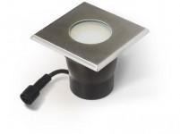 svítidlo LED zápustné 10x10cm, 4,0W, IP67 teplé, do dřeva