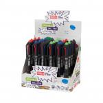 Easy Flow 4colours 24 ks Přepisovatelné pero gumovací, 4 barvy S923464