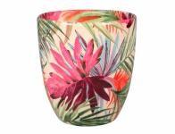 Obal na květník KODET PALMA keramický lesklý d13x14cm