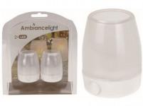 svíčka čajová LED pr.6,5cm BÍ (2ks) s bateriemi