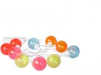 osvětlení LAMPIONY pr. 4cm 10LED PH řetěz - mix barev