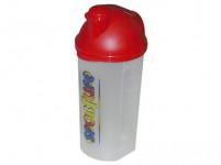 šejkr 700ml plastový, s potiskem, víčko - mix barev