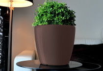 Samozavlažovací květináč GreenSun AQUAS průměr 28 cm, výška 26 cm, hnědý
