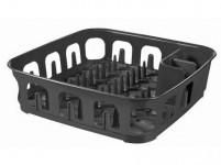 odkapávač na nádobí čtvercový 39x39x10cm plastový, ŠE tm.