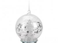 dekorace LED KOULE anděl/stromek pr. 8cm sklo - mix variant či barev