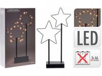 osvětlení vánoční HVĚZDY 40cm 30LED kov ČER
