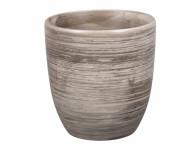 Obal na květník KODET GREY keramický šedý matný d13x14cm