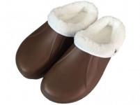 pantofle gumové zimní pánské vel. 41 (pár) - mix barev