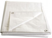 Plachta kašírovaná nepromokavá bílá 140g/m2 - 5x8 m