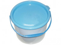 vědro s víkem 3l plastové - mix barev