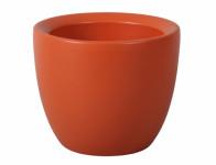 Obal na květník VALENCIE keramický oranžový mat d12x11cm