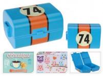 box svačinový 12x10x15,5cm s klick uz. plastový - mix variant či barev
