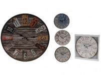 hodiny nástěnné pr.33,8cm dřev. - mix variant či barev