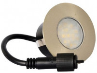 svítidlo LED zápustné pr.9,5cm,3W, IP67 teplé, do dřeva, pochozí