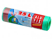 pytle na odpadky zatahovací 25l (15ks) 45x 50cm ZE 12µ ECONOMY