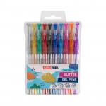 Glitter gelové pero se třpytkami - mix barev, 10ks/sada