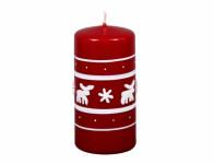 Svíčka SOBÍCI VÁLEC vánoční lakovaná d6x12cm
